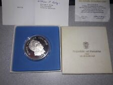 Silver Coin 1974 Panama 20 Balboas 5oz sterling coin with paperwork