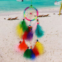 Colorful Dream Catcher Feather Craft Handmade Home Hanging Gifts CHEAP SALE Gift