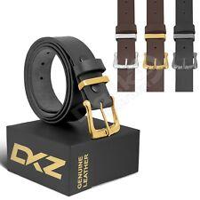 """Cinturón de cuero (100% Genuino Negro/Marrón) de 30"""" a 72"""" Tamaños de la cintura"""