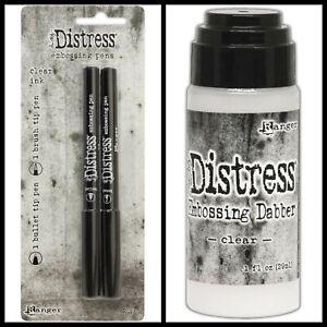 Ranger Tim Holtz Distress Clear Embossing Pens (2 pens/pack) & Emboss Dabber Ink