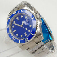 40mm Auto Date Men's Watch Sterile Blue Dia Miyota Movement Automatic Watch