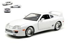 1:24 DIECAST FAST FURIOUS 7 BRIAN'S TOYOTA SUPRA WHITE CAR MODEL MADE BY JADA
