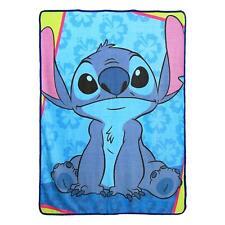 """Disney Lilo and Stitch Throw Blanket Warm Soft 46"""" x 60'' Bad But Cute"""