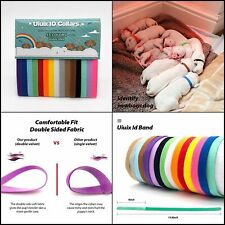Uiuix Puppy Whelping Collars, 15 Colors Puppy Id Collars, Double-Sided Soft