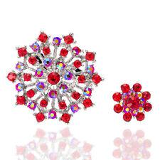 Vintage Stil rot Mutter und Kind Brosche zwei Broschen groß klein Blume BR347