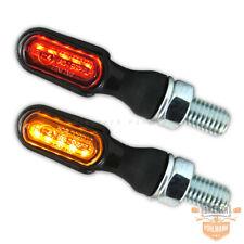 SMD Mini Blinker Rücklicht Heat 2 ABS schwarz 3 in 1 getönt E-geprüft Motorrad