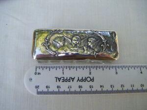 Antique Sterling Silver Lid Glass Trinket/Vanity box Reynolds Angels 1906 B'ham