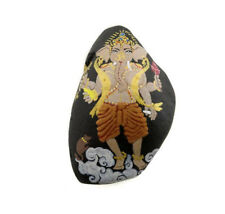 Ganesha Kit & O-Ring Stone with Ganesh Hand Painted Elephant Dieu Hindu 6273