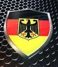 "Deutschland Shield Flag Germany Proud Domed Decal Emblem Car Sticker 3D 2.3""x 3"""