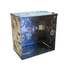 Single Metal Back Box Depth 47mm Flush Wall Pattress Shower Spur Electrical Etc