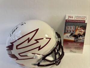 Danny White Signed Arizona State Sun Devils Mini Helmet JSA College Hall of Fame