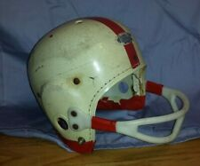 Vintage Spalding Harness Football Helmet S Youth White Gear As Is Antique