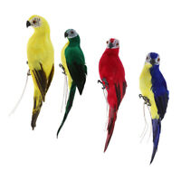 4x Lifelike Bird Ornament Figurine 35cm Parrot Toys Statue Lawn Sculpture