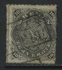 Bremen 1867 10 gr black used