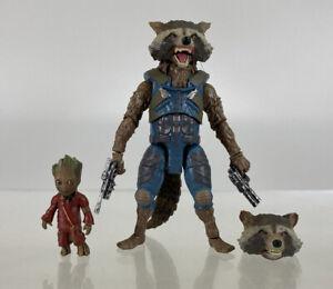Marvel Legends Rocket Raccoon Baby Groot MCU Guardians Galaxy Vol. 2 Mantis BAF