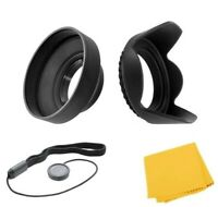 55mm Hard Tulip & Rubber Lens Hood for Nikon D5600 D3500 D3400 w/18-55mm