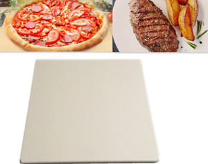 """12"""" Refractory Pizza Stone Baking Stone Durable Thermal Shock Resist Oven Grill"""