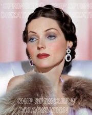 ADRIENNE AMES posed by Pink Curtains | CROPPED 8x10 Color Photo by CHIP SPRINGER