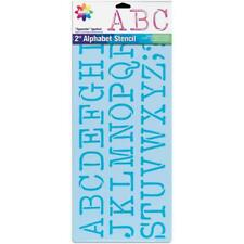 """2 inch LETTER STENCIL Sheet Clear Alphabet Numbers TYPEWRITER 8.25"""" x 18"""""""