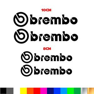 Kit 4 adesivi BREMBO per pinze freno stickers disponibili vari color