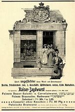 De Berlin Boucher F. Nietsch Jun. Empereur-jagdwurst histor. artiste publicité 1899