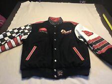 JH Chase Budweiser Dale Earnhardt Jr Reversible Leather Wool Jacket Nascar XL
