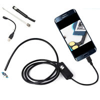 2/5M 7mm 6LED Android Endoscope Waterproof USB Snake Borescope Inspection Camera