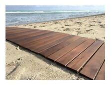 Outdoor Indoor, Camping, Beach, Picnic, RV, Wood Roll Up Floor Mat, Pad, Rug