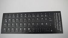 Keyboard sticker Tastaturaufkleber 3M Qualität Notebook Germany deutsch  schwarz
