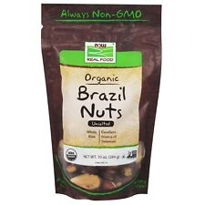 NOW Foods Brazil Nuts, Organic, Whole, Raw & Unsalted, 10 oz.