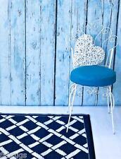 FabHabitat Rugs Mats Reversible Indoor Outdoor TOLEDO Blue & White 180x270cm
