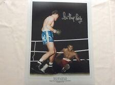 Henry Cooper signed 16 X 12 colourised Photo V Ali Proof COA