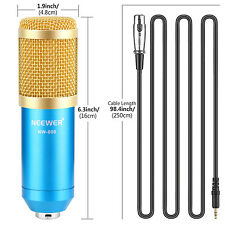 Neewer NW-800 Studio Microphone+Shock Mount+Anti-wind Foam Cap+Cable(Blue)