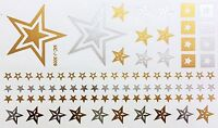 Tattoo Gold Silber Einmal Klebe Flash Temporary 88teile Armband Kette Fuß 3008