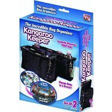 Kangaroo Keeper Bag Organizer Cosmetic Multi Purpose Bag Set of 2 Black