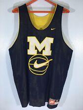 Vintage 90s MICHIGAN WOLVERINES BASKETBALL Reversible NBA Jersey Shirt XL