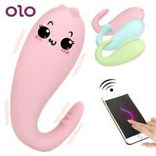 OLO Women Silicone Monster Pub Vibrator APP Bluetooth Wireless Remote Control