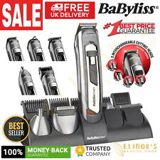 New Babyliss Men Titanium 10-in-1 Kit Hair Face & Body Shaver Clipper Trimmer