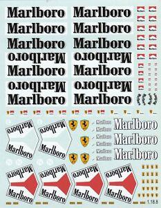 Carpena decals for cars 1/18 - Marlboro  (Ref 1-18-8)