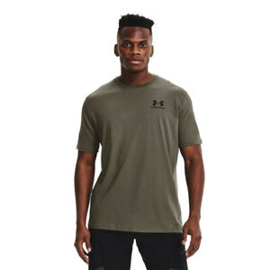 Under Armour Mens Sportstyle Left Chest Short Sleeve T Shirt Tee Top Green