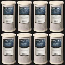 "BLUONICS Big Blue Carbon Block Water Filters 8pcs Standard 4.5"" x 10"" Cartridges"