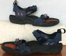 Men's Nike ACG Air Deschutz Size 9 US 42 1/2 Euro Blue & Orange Strap Sandals