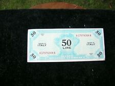 Italy 50 Lire banknote Allied Military Currency printed in 1943