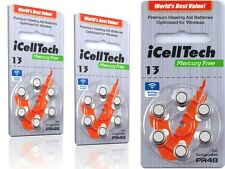 66 x Icelltech Type 13 Ds PR48 Hearing Aid Batteries Hearing-Aid Batteries