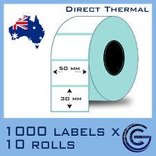 50x30 mm 10,000pcs for Zebra, TSC, Datamax Barcode Label Roll Sticker Lables