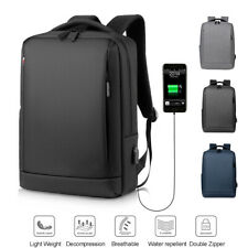 Waterproof Men Women Backpack Bag School Travel Laptop Bags USB Charging Port