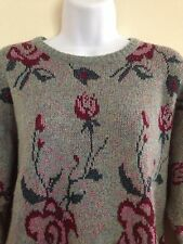 Gehring Rose Mohair Sweater Jumper EU 36 US 4 Made in West Germany Gray Blue