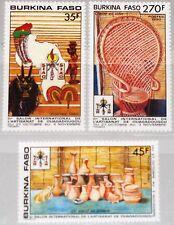 BURKINA FASO 1990 1239-41 900-02 Intl. Exposition Handicrafts Kunsthandwerk MNH