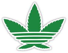 "Hemp marijuana cannabis weed adidas sticker decal 5"" x 4"""