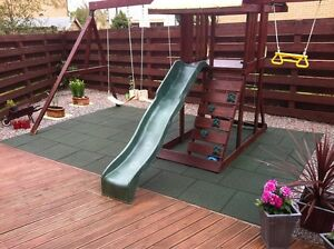 Rubber Safety Playground Tiles Mats Flooring- Recycled & EPDM  - Interlocking